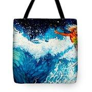 Surfer Girl Tote Bag by Hanne Lore Koehler