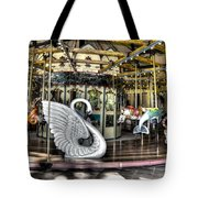 Swan Seat At The Carousel  Tote Bag by Michael Garyet