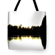 Swan Silhouette Tote Bag by Will Borden