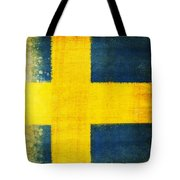Swedish Flag Tote Bag by Setsiri Silapasuwanchai