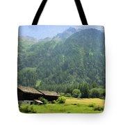 Swiss Mountain Home Tote Bag by Jeff Kolker