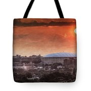 Syracuse Sunrise Over The Dome Tote Bag by Everet Regal