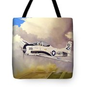 T-28 Over Iowa Tote Bag by Marc Stewart
