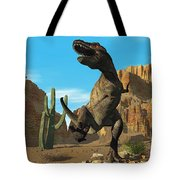 T-rex Tote Bag by Corey Ford