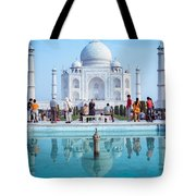 Taj Mahal  Tote Bag by Nila Newsom