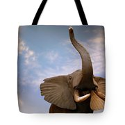 Talking Elephant Tote Bag by Marilyn Hunt