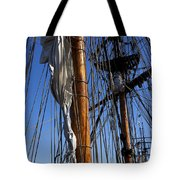 Tall ship rigging Lady Washington Tote Bag by Garry Gay