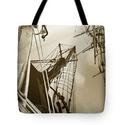 Tall Ships Reflected Tote Bag by Robert Lacy