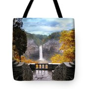 Taughannock In Autumn Tote Bag by Jessica Jenney