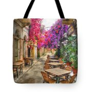 Tavern In Bloom Tote Bag by Michael Garyet