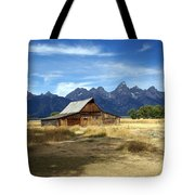 Teton Barn 3 Tote Bag by Marty Koch