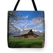 Teton Barn Tote Bag by Douglas Barnett