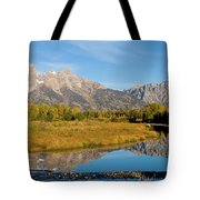 Teton Reflections Tote Bag by Steve Stuller