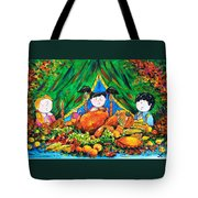 Thanksgiving Day Tote Bag by Zaira Dzhaubaeva