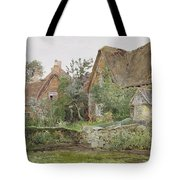 Thatched Cottages And Cottage Gardens Tote Bag by John Fulleylove