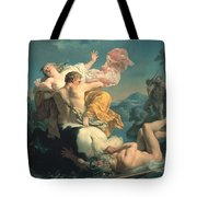 The Abduction Of Deianeira By The Centaur Nessus Tote Bag by Louis Jean Francois Lagrenee