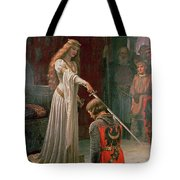 The Accolade Tote Bag by Edmund Blair Leighton