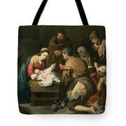 The Adoration Of The Shepherds Tote Bag by Bartolome Esteban Murillo
