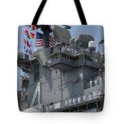 The Amphibious Assault Ship Uss Boxer Tote Bag by Stocktrek Images