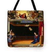 The Annunnciation Tote Bag by Girolamo da Santacroce