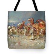 The Arab Caravan   Tote Bag by Italian School
