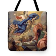 The Assumption Of The Virgin Tote Bag by Guillaume Courtois
