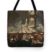 The Ballet Scene From Meyerbeer's Opera Robert Le Diable Tote Bag by Edgar Degas