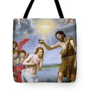 The Baptism of Christ Tote Bag by Ottavio Vannini