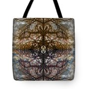 The Barking Yin Yang Tote Bag by Clayton Bruster