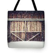 The Barn In Winter Tote Bag by Lisa Russo
