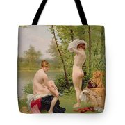 The Bathers Tote Bag by Jules Scalbert