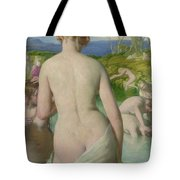 The Bathers Tote Bag by William Mulready