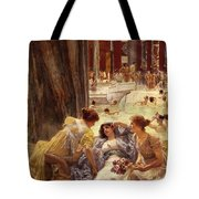The Baths Of Caracalla Tote Bag by Sir Lawrence Alma-Tadema