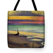 The Beach at Heist Tote Bag by Georges Lemmen