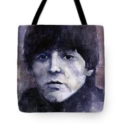 The Beatles Paul Mccartney Tote Bag by Yuriy  Shevchuk