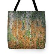 The Birch Wood Tote Bag by Gustav Klimt