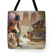 The Bitter Draught of Slavery Tote Bag by Ernest Normand