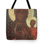 The Black Madonna Of Jasna Gora Tote Bag by Russian School