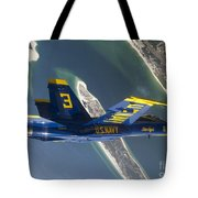 The Blue Angels Perform A Looping Tote Bag by Stocktrek Images