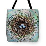 The Botanical Bird Nest Tote Bag by Elizabeth Robinette Tyndall