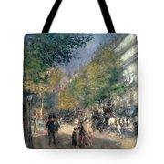 The Boulevards  Tote Bag by Pierre Auguste Renoir