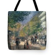 The Boulevards  Tote Bag by Pierre Auguste Renoir