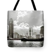 The Bund - Old Shanghai China - A Museum Of International Architecture Tote Bag by Christine Till