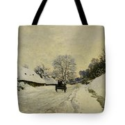 The Cart Tote Bag by Claude Monet