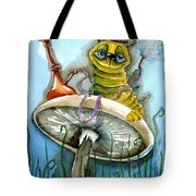 The Caterpillar Tote Bag by Lucia Stewart