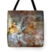 The Central Region Of The Carina Nebula Tote Bag by Stocktrek Images