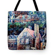 THE CHATEAU FRONTENAC Tote Bag by CAROLE SPANDAU