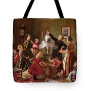 The Christmas Hamper Tote Bag by Robert Braithwaite Martineau