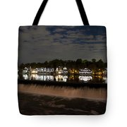 The Colorful Lights Of Boathouse Row Tote Bag by Bill Cannon