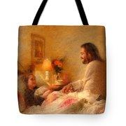 The Comforter Tote Bag by Greg Olsen
